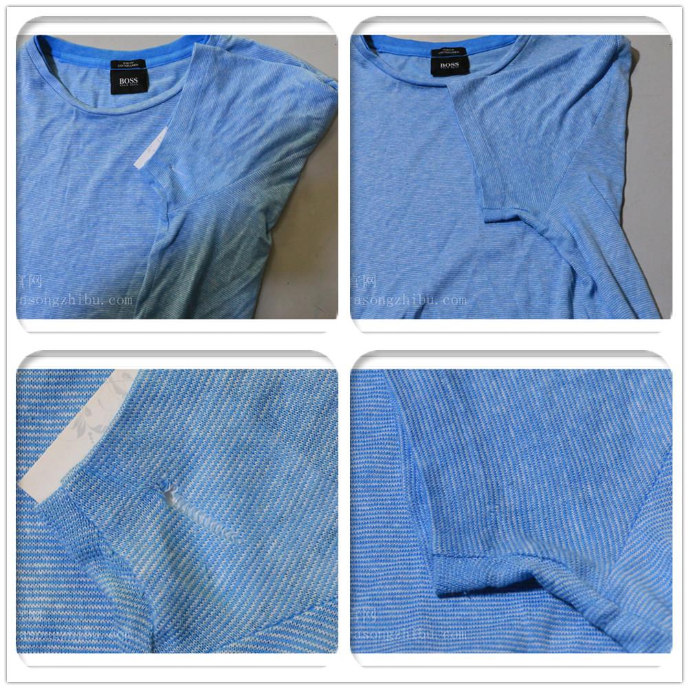男士细针间色T恤修补案例